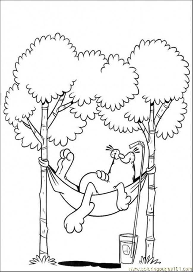 Garfield Coloring Pages Pdf : Coloring pages lazy cartoons gt garfield free printable