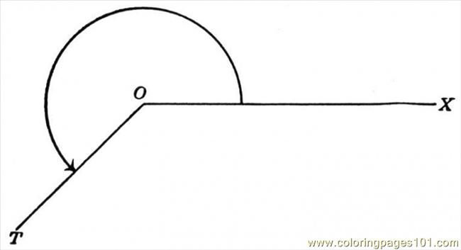 Coloring Pages Angle 10 Education gt Geometry free