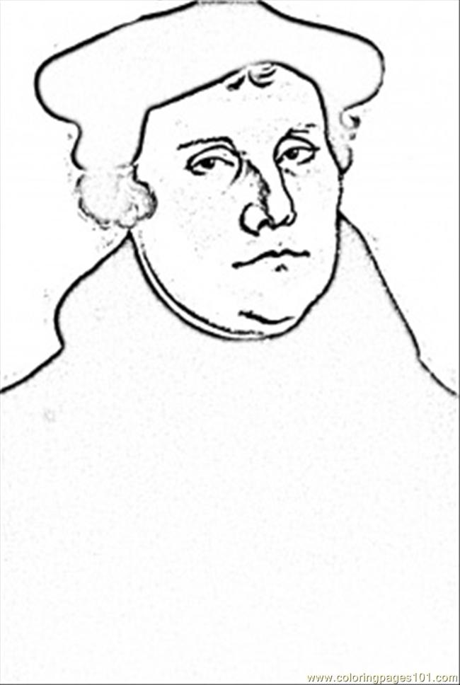 childrens coloring pages martin luther - photo#23