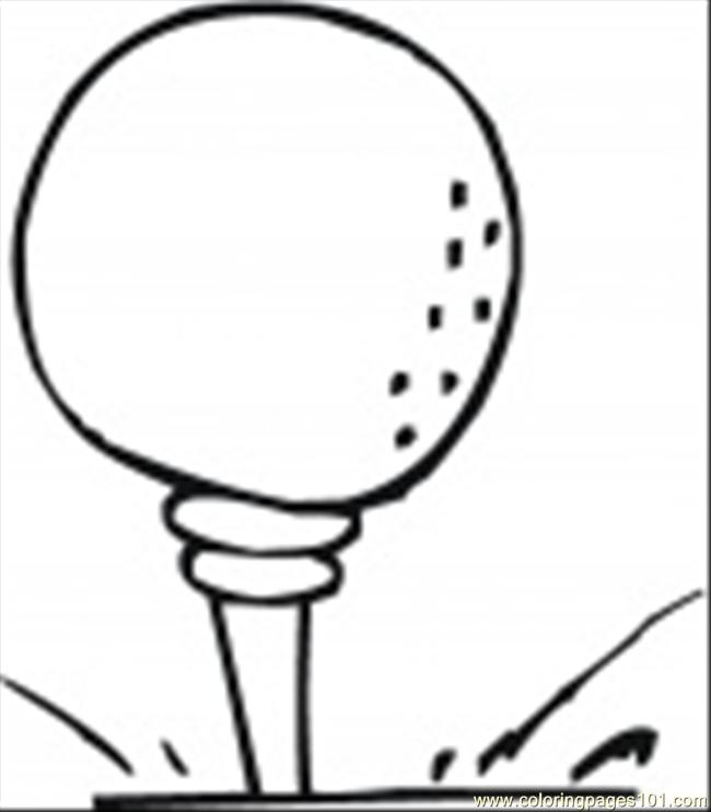 8 Free Printable Coloring Page Golf Ball Sports