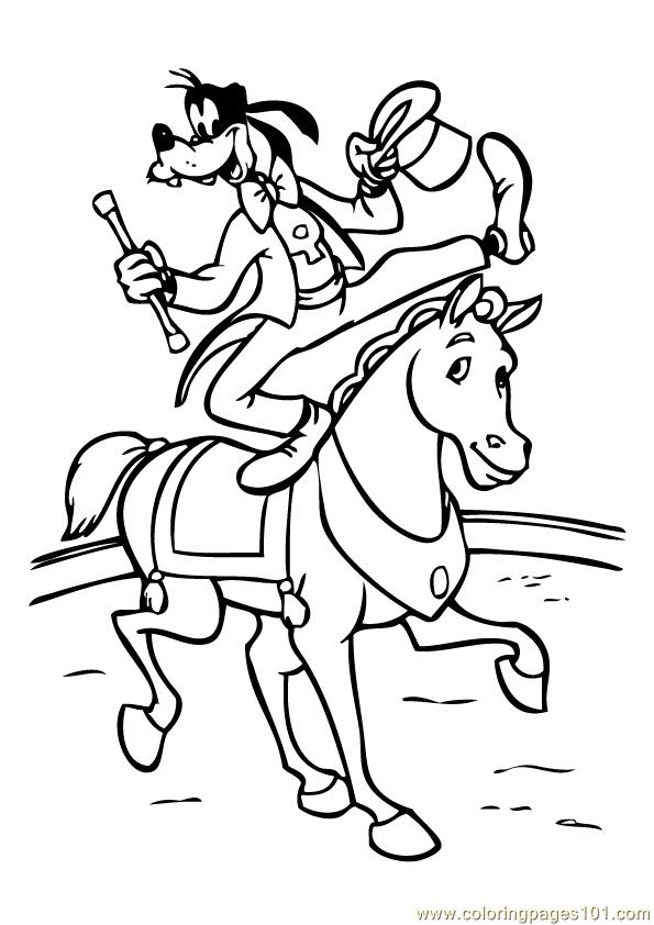 goofy christmas coloring pages