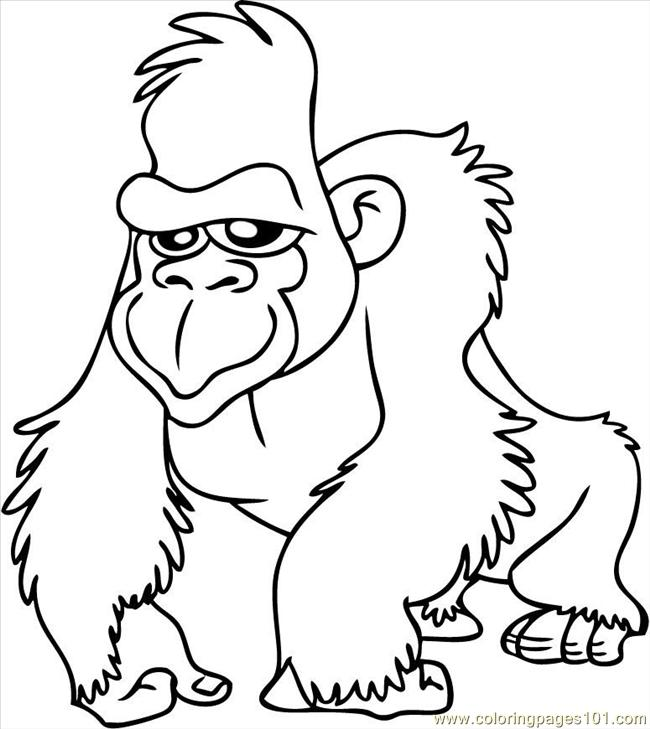 Coloring page gorilla - img 9682.