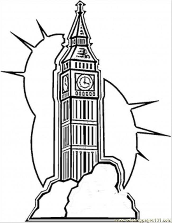 Coloring Pages Big Ben In London Countries gt Great