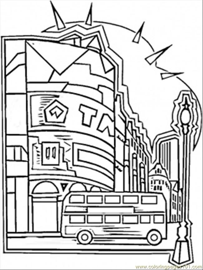 Coloring Pages Center Of London (Countries > Great Britain) - free ...