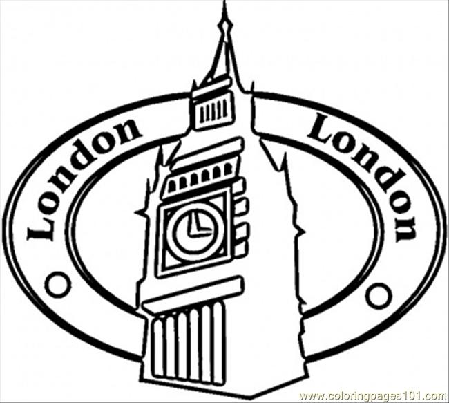 Free Coloring Pages Of Big Ben And A Bus