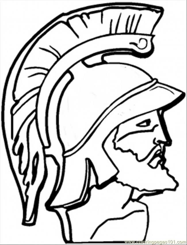 F Greek Warrior Coloring Page