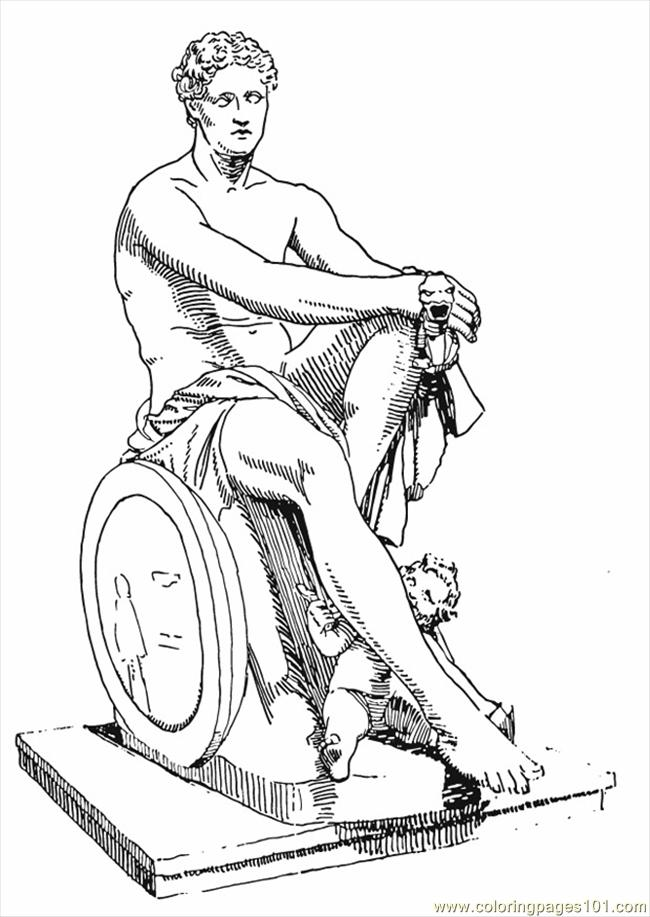 Coloring Pages Photo Ares Greek