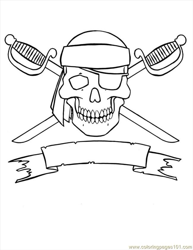 coloring image jolly roger