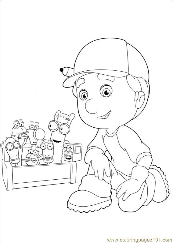 free printable coloring page handy manny 39 cartoons handy manny - Handy Manny Hammer Coloring Pages