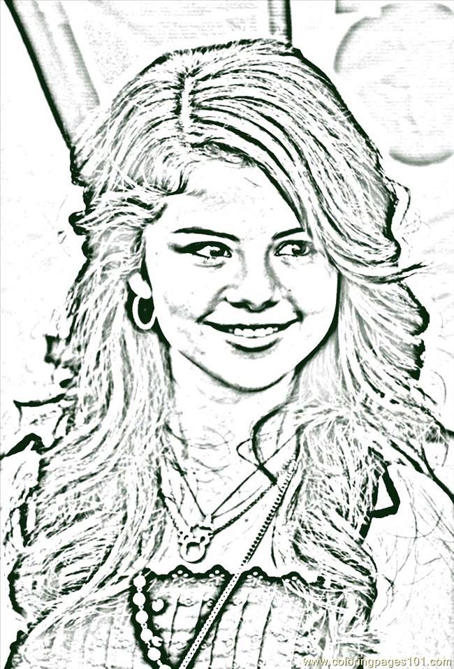 hannah montna coloring pages - photo#33