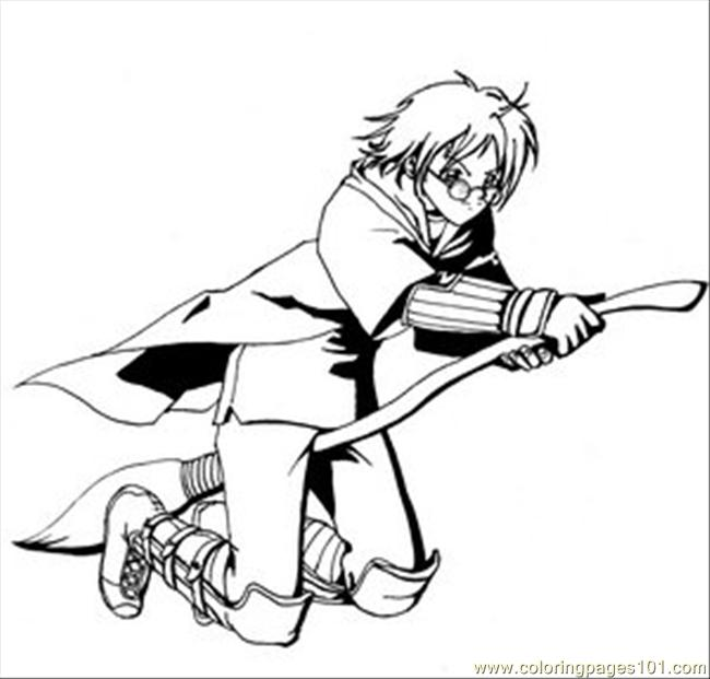 Harry Potter Coloring Pages Quidditch harry potter qu...