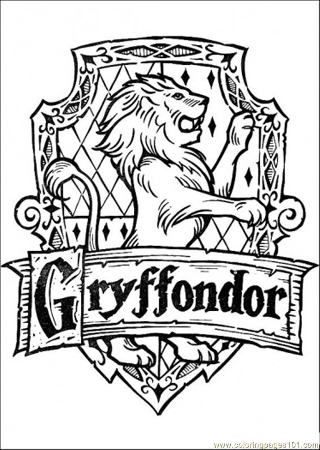 harry potter coloring pages pdf | Coloring Pages Gryffondor (Cartoons > Harry Potter) - free ...
