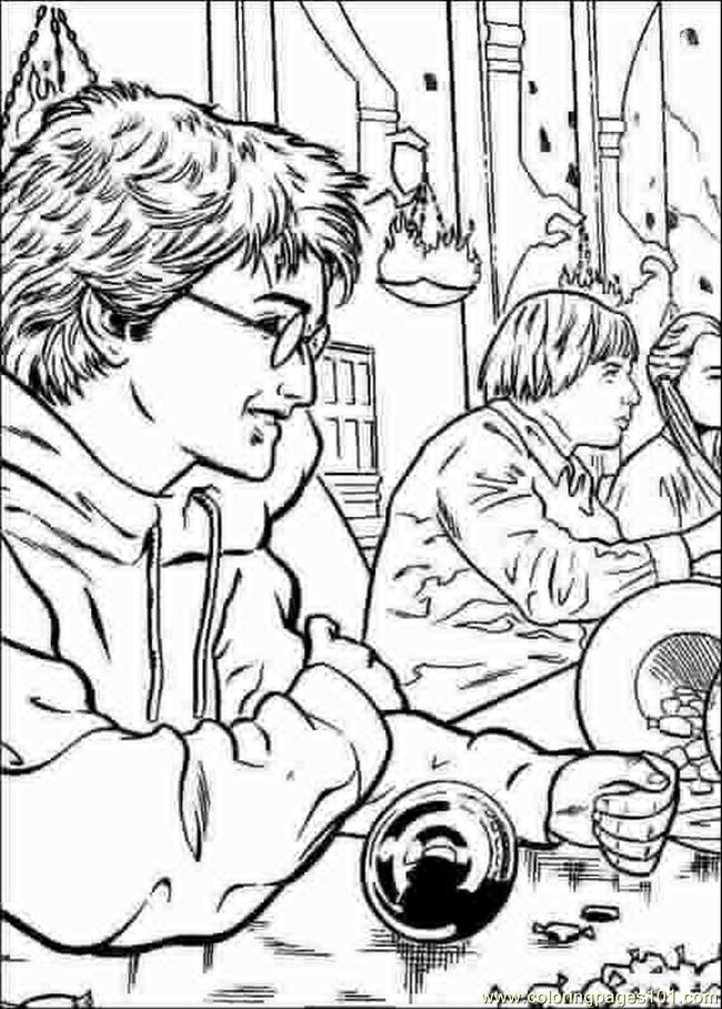 Free Coloring Pages Of Harry Potter Logo