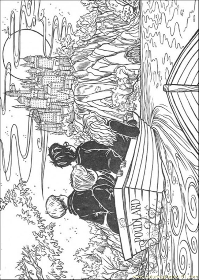 harry potter castle coloring pages - photo#19