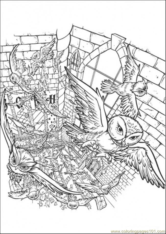 Free Coloring Pages Of Detailed Owl