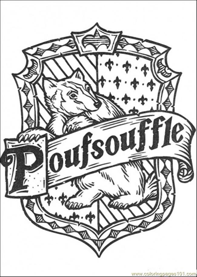 harry potter badge coloring pages | Harry Potter House Crest Coloring Page Coloring Pages