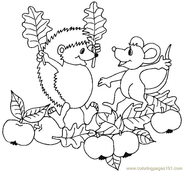 Garden Animals Coloring Pages : Coloring pages hedgehog apple garden animals gt hedgehogs