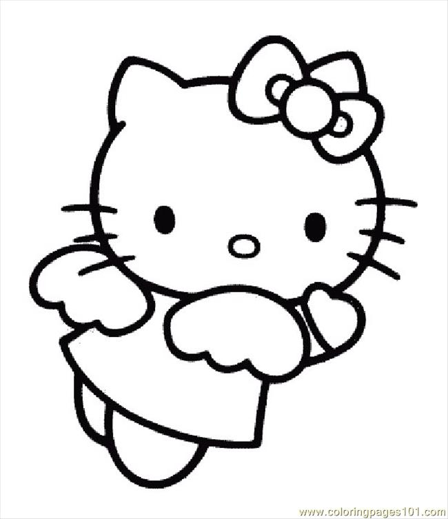 Hello Kitty Coloring Pages Pdf : Hellokittycoloringpage