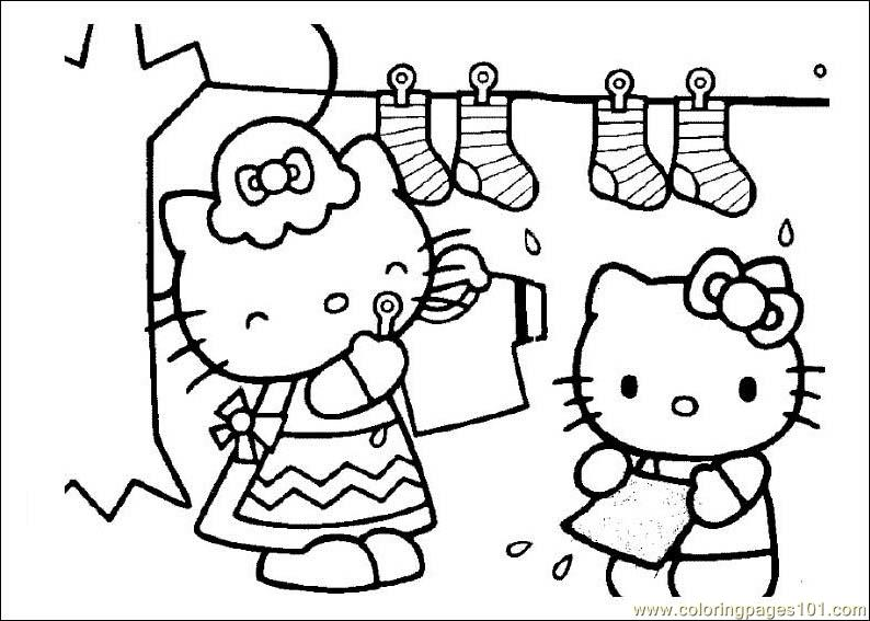 Hello Kitty Dear Daniel Coloring Pages : Dear daniel coloring pages