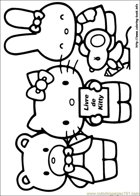 Hello Kitty Soccer Coloring Pages : Free printable coloring page hello kitty cartoons