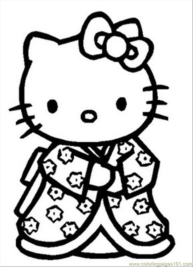 Hello Kitty New Coloring Pages : Hello kitty coloring pages pdf