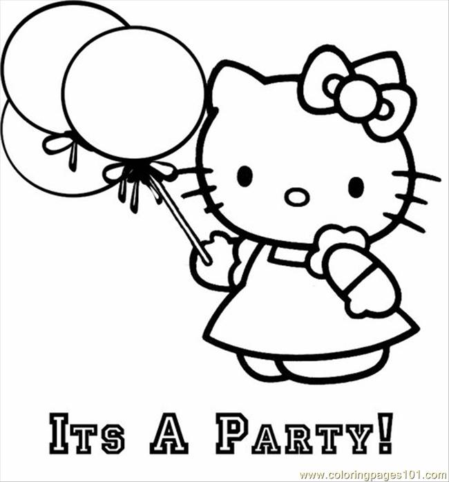 Coloring Pages Hello Kitty Balloon Cartoons Gt Hello Kitty