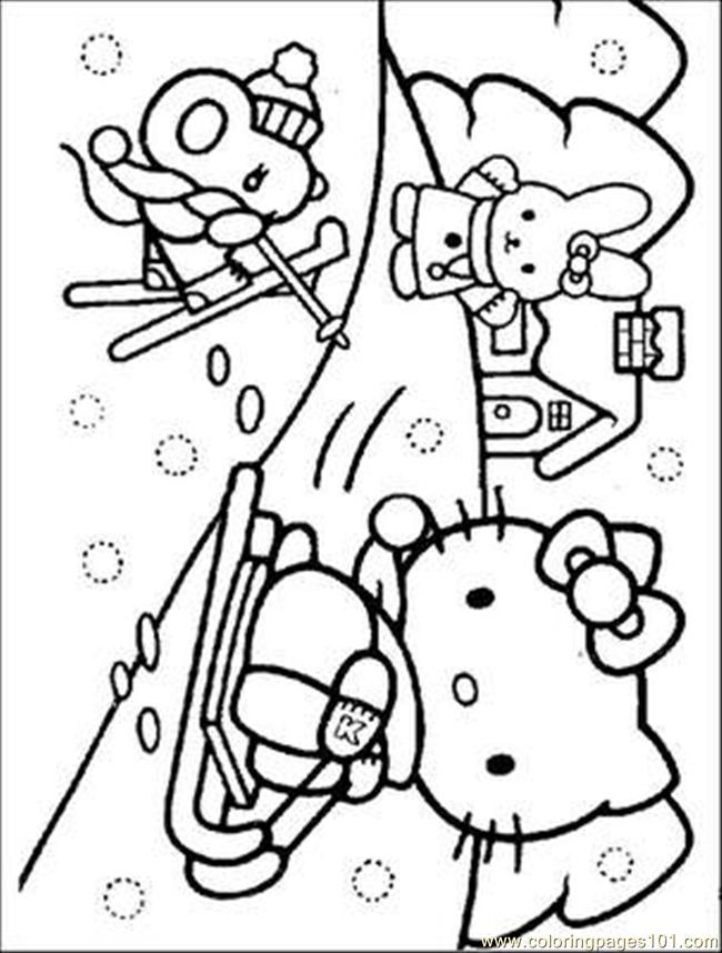 Hello Kitty Butterfly Coloring Pages : Coloring pages kitty cartoons gt hello free