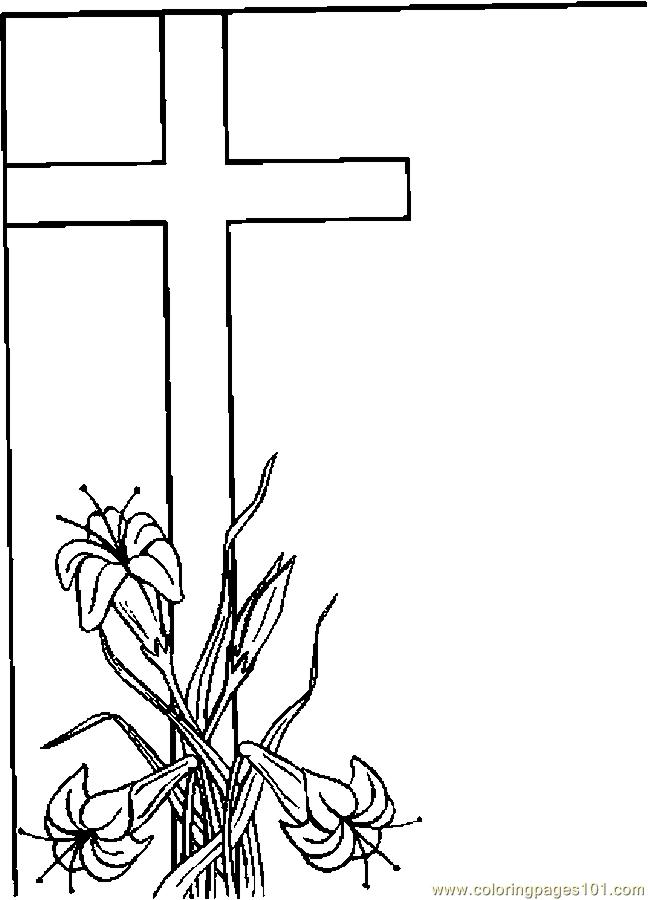 Three Crosses Coloring Pages Coloring Pages