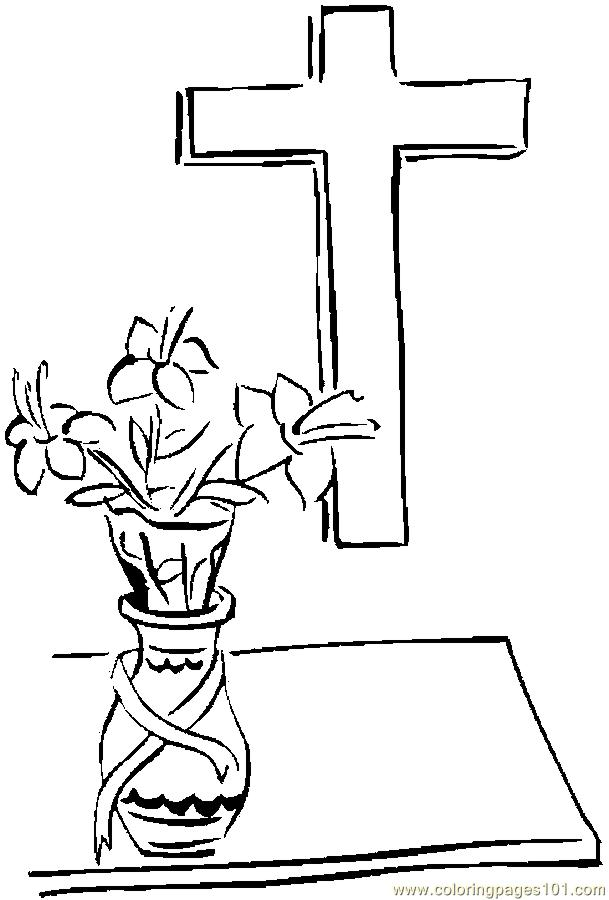 crucifix coloring pages - photo#23