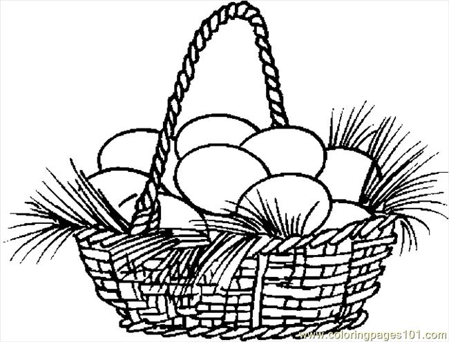 easter basket coloring pages online - photo#30