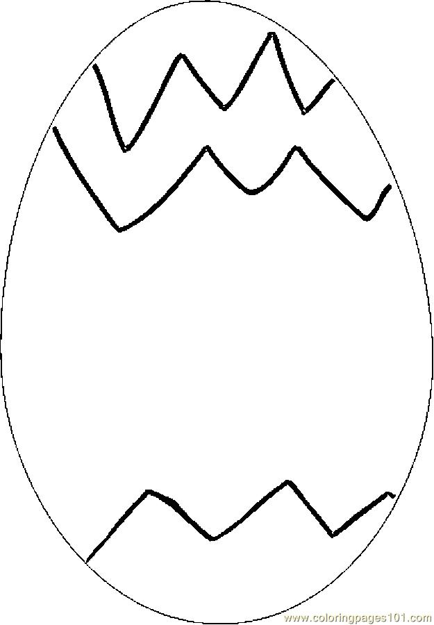 Free Coloring Pages Of Hard Patterns Easter Egg