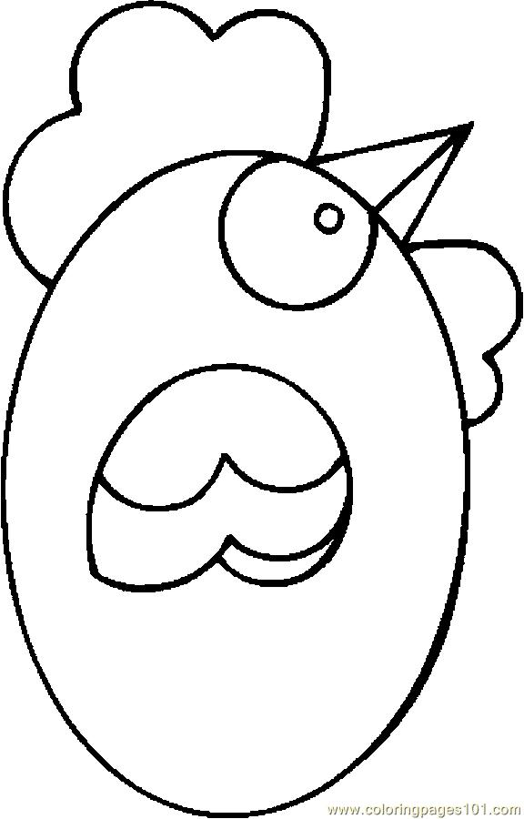 Free Coloring Pages Of Chickens And Eggs