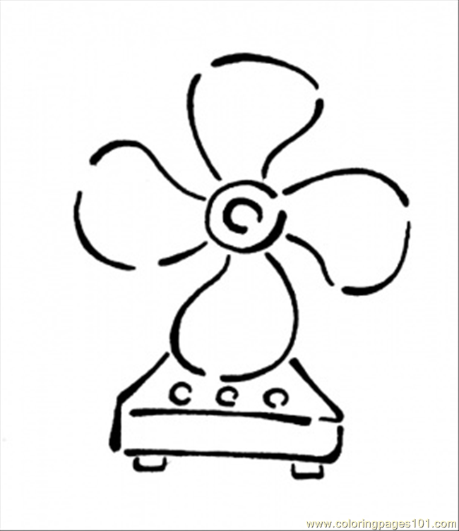 Hand Fan Coloring Page