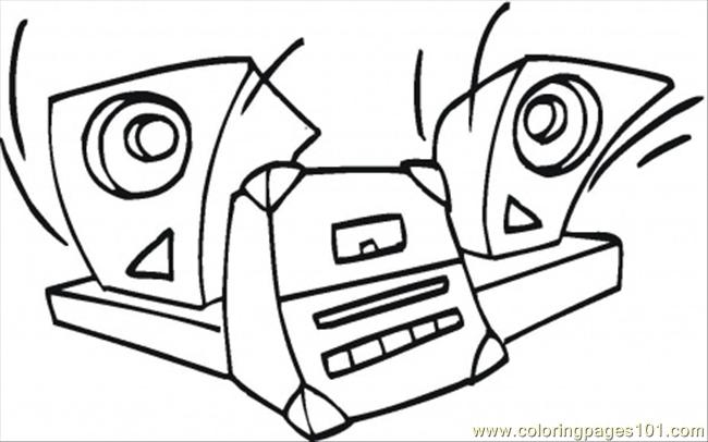 Coloring Pages Loud Music Technology