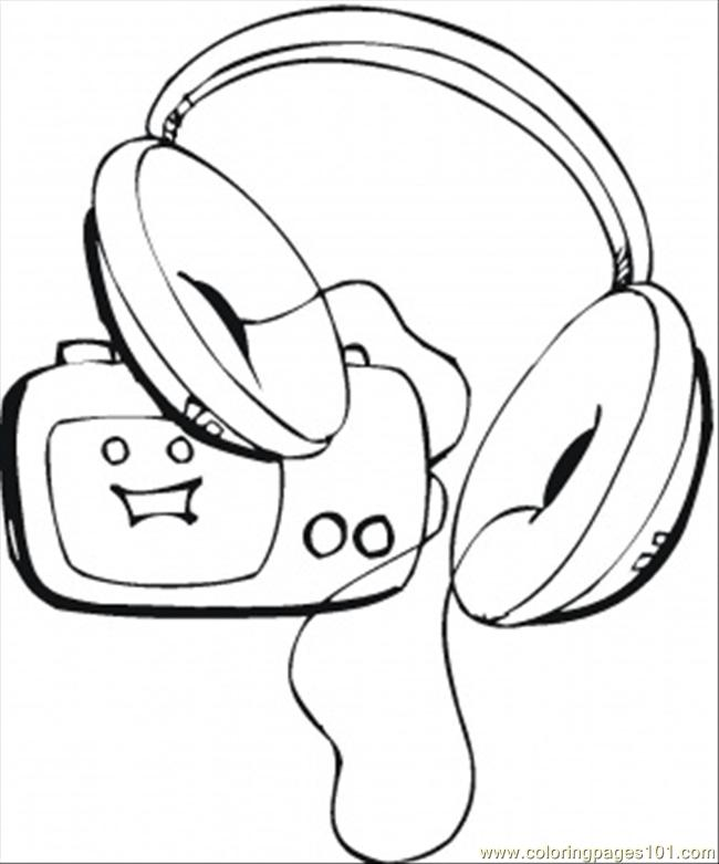 Coloring Pages Loud Music On Radio