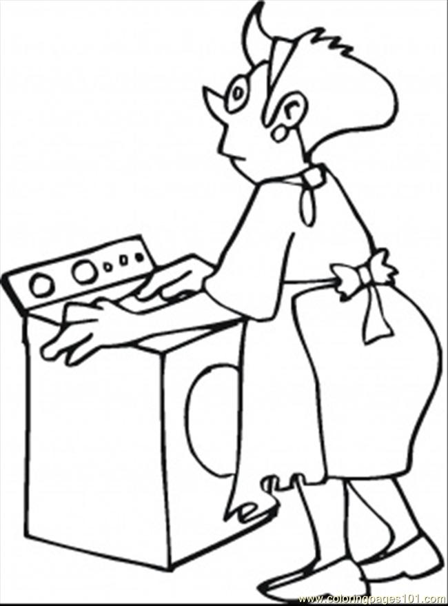Coloring Pages Making Laundry Technology