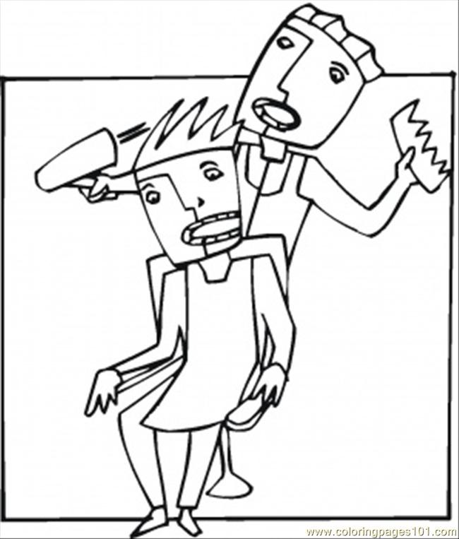 hair dryer coloring pages - photo #41