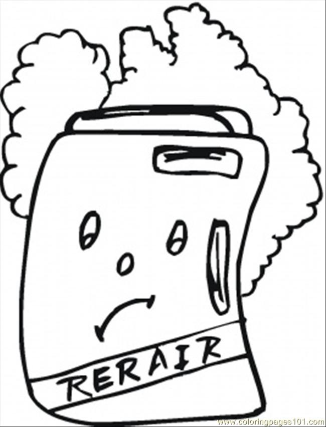 Coloring Pages Repair The Fridge