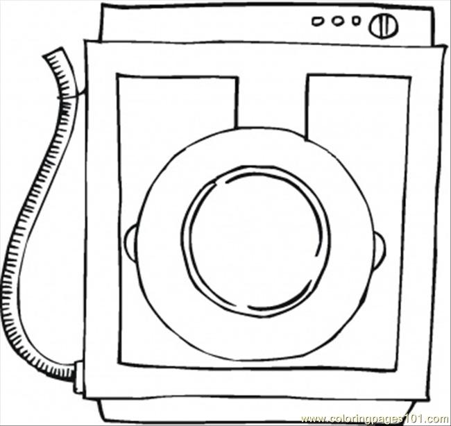 Coloring Pages Washing Machine Technology gt Home