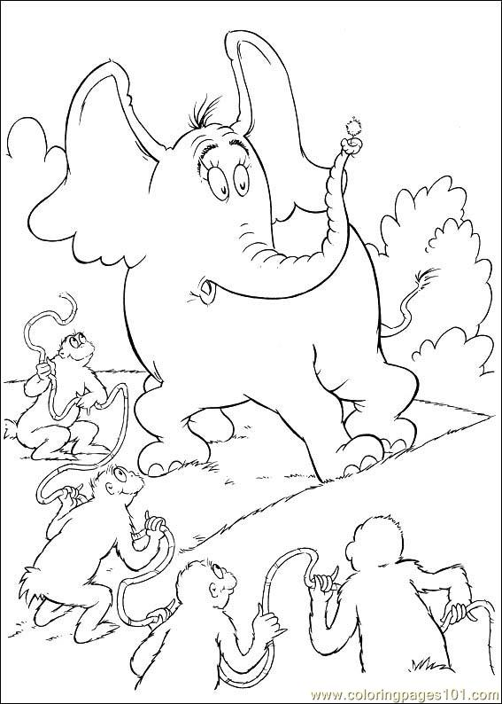 Horton free colouring pages for Horton hears a who coloring pages