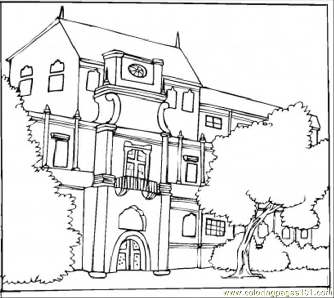 Free coloring pages of mansion
