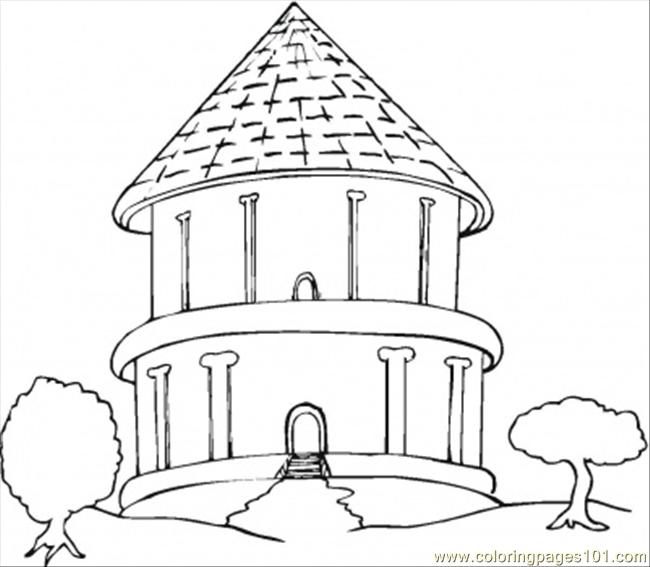 christmas village houses coloring pages - photo#27