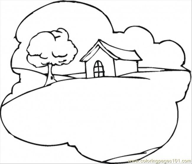 Rolling Hills Coloring Page Coloring Pages