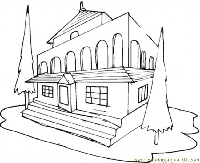coloring pages of hotel - photo#4