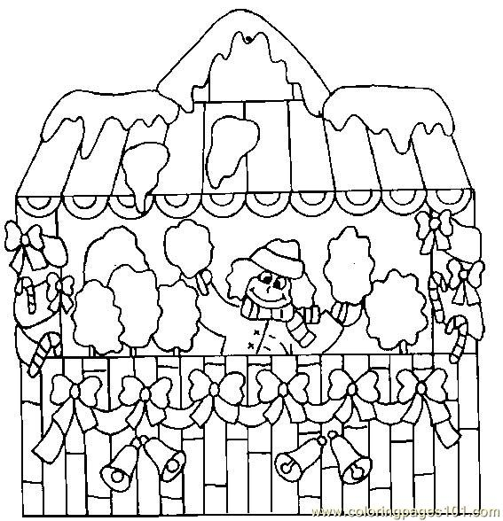 santa house coloring pages photo 9