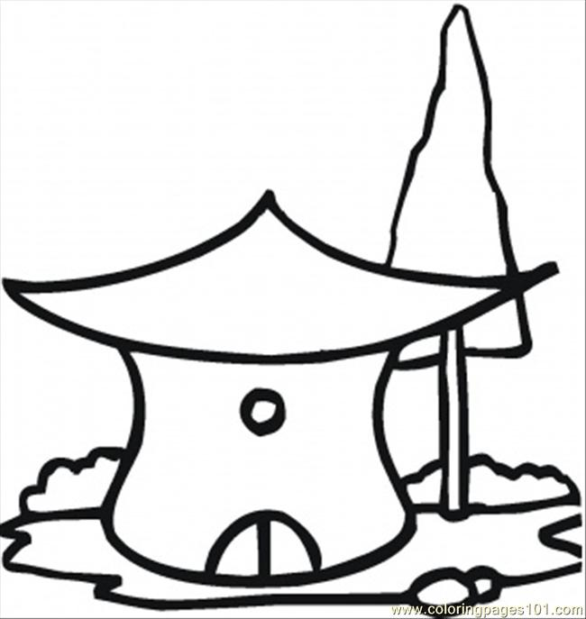 straw house coloring pages - photo#40