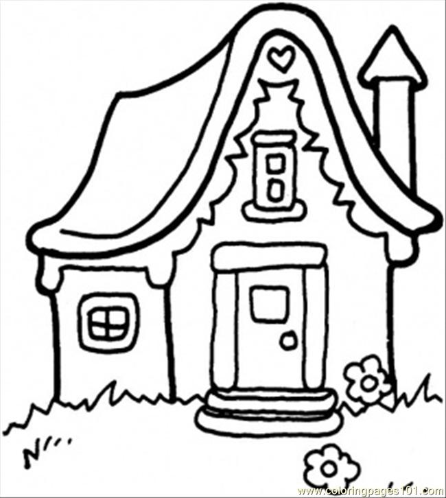 little house coloring pages - photo#2