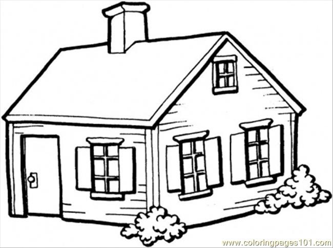 Coloring Pages Small House In The Village Architecture Houses Colouring Pages