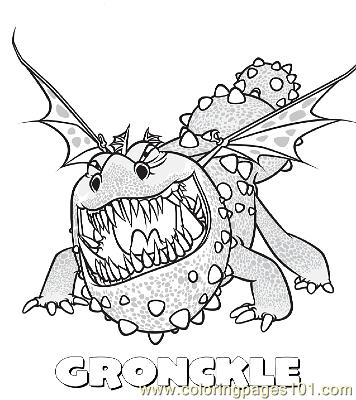how to train your dragon coloring pages online - coloring pages gronckle cartoons how to train your