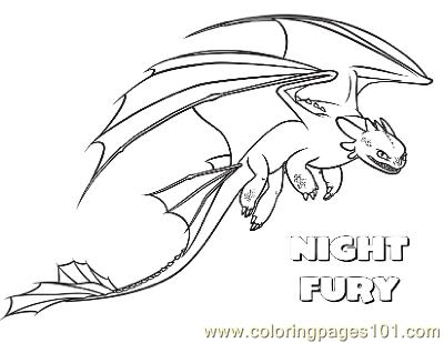 Coloring Pages Nightfury Cartoons